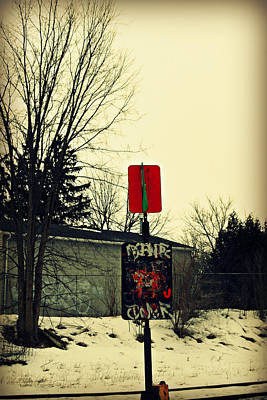 Photograph - Modern Stop by Cyryn Fyrcyd