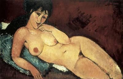 Modigliani, Amedeo 1884-1920. Nude Art Print by Everett