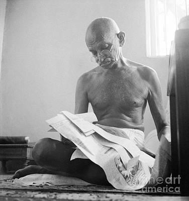Photograph - Mohandas Gandhi by Celestial Images