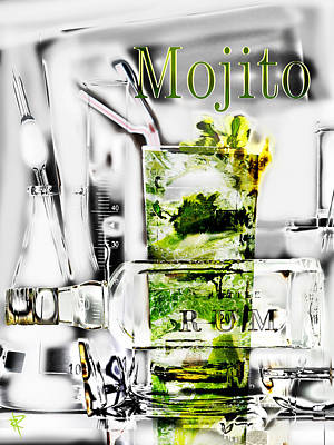 Fizz Mixed Media - Mojito by Russell Pierce