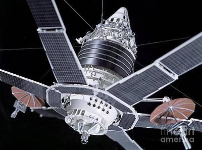 Comsats Photograph - Molniya Military Communication Satellite by RIA Novosti