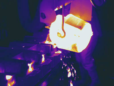 Molten Metal, Thermogram Print by Science Stock Photography