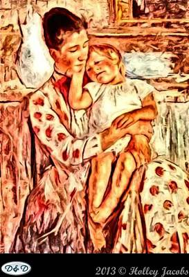 Digital Art - Mom And Me by Holley Jacobs