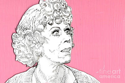 All In The Family Mixed Media - Momma On Pink by Jason Tricktop Matthews