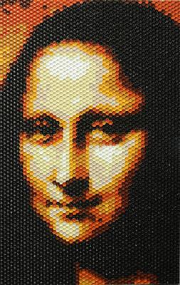 Painting - Mona Lisa - Honeycomb by Samuel Majcen