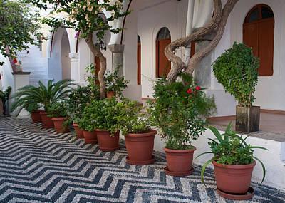 Symi Photograph - Monastery Courtyard by David ELLIOTT