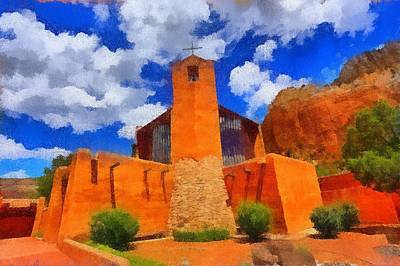Digital Art - Monastery Of Christ In The Desert by Carrie OBrien Sibley