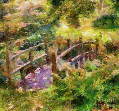 Monet's Bridge Art Print