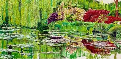 Painting - Monet's Garden by Aditi Bhatt