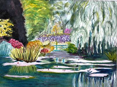 Painting - Monet's Jardin De L'eau by Donna Walsh