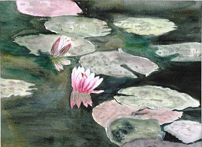 Painting - Monet's Lily Pads by Donna Walsh