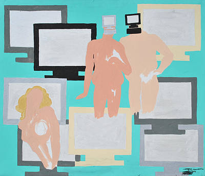 Painting - Monitored by Erika Chamberlin