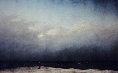Berlin Night Painting - Monk By Sea by  Caspar David Friedrich