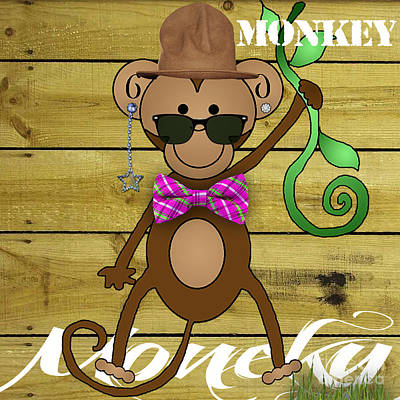 Mixed Media - Monkey Business Collection by Marvin Blaine