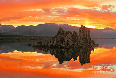 Photograph - Mono Lake Fiery Sunset by Adam Jewell
