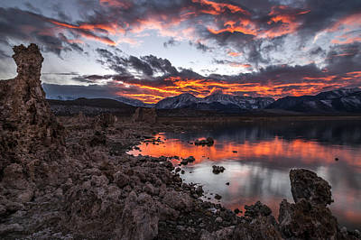 Superhero Ice Pop Rights Managed Images - Mono Lake Sunset Royalty-Free Image by Cat Connor