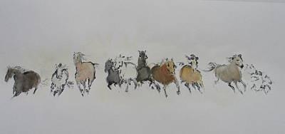 Painting - Mono Print 1 by Elizabeth Parashis