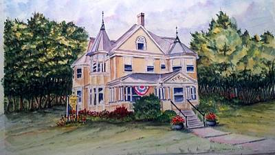 Monroe Inn Auburn Maine Sold Art Print by Richard Benson