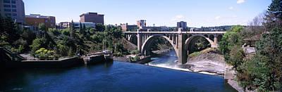 Spokane River Photograph - Monroe Street Bridge Across Spokane by Panoramic Images