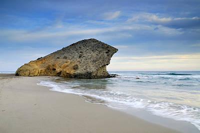 Beach Photograph - Monsul Beach At Sunset by Guido Montanes Castillo