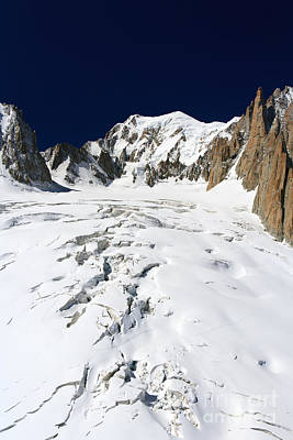 Sports Royalty-Free and Rights-Managed Images - Mont Blanc massif and Mer de Glace glacier by Antonio Scarpi
