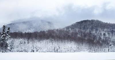 Photograph - Mont Saint Hilaire Lac Hertel On A Winter Day by Laurent Lucuix