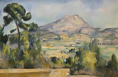 Cezanne Montagne Saint-victoire Painting - Montagne Saint-victoire by Paul Cezanne