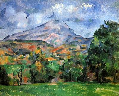 Montagne Sainte-victoire Art Print by Paul Cezanne
