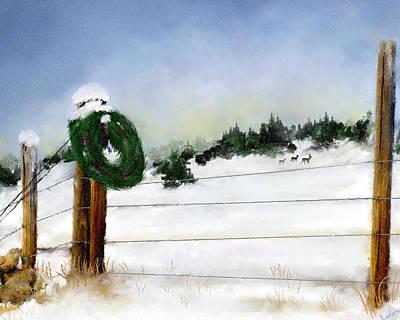 Montana Artist Painting - Montana Christmas by Susan Kinney