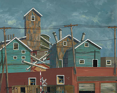 Billing Painting - Montana Street Crossing by John Wyckoff