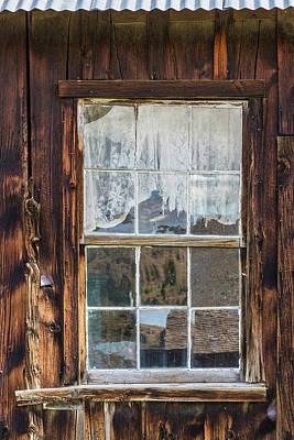 Cabin Window Photograph - Montana, Virginia City by Jaynes Gallery