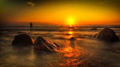 Photograph - Montauk New York Summer Sunrise by Alissa Beth Photography
