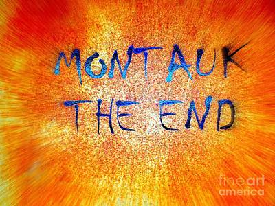 Photograph - Montauk The End by Ed Weidman