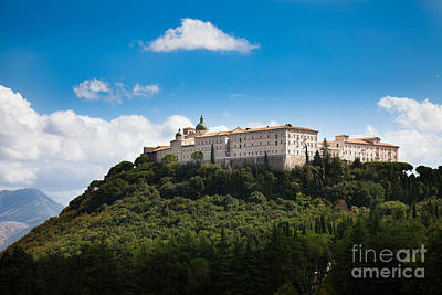 Monte Cassino  Abbey On Top Of The Mountain Art Print
