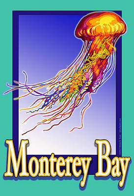 Monterey Bay Jellyfish Art Print by Michelle Scott