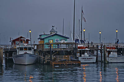 Boats Photograph - Monterey Wharf 2 by SC Heffner