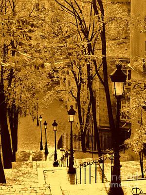 Sacre Coeur Photograph - Montmartre Stairway by Nick Wardekker