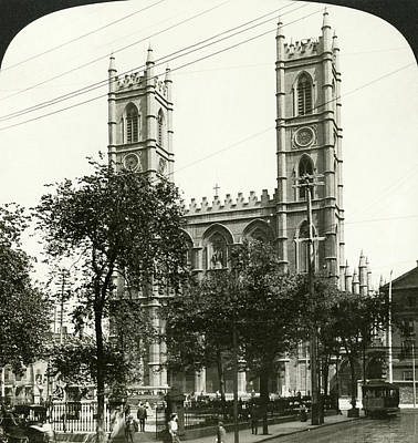 Notre Dame Cathedral Painting - Montreal Notre Dame, 1908 by Granger