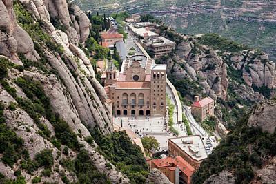 Christian Sacred Photograph - Montserrat Monastery From Above by Artur Bogacki
