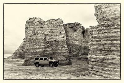 Monument Rocks Of Kansas Photograph - Monument Rocks - Chalk Pyramids by Bill Kesler