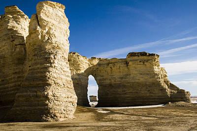 Kansas Photograph - Monument Rocks Of Kansas by Ellie Teramoto