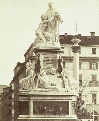Monument To Camillo Benso Conte Di Cavour By Giovanni Art Print