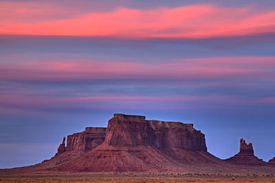 Monument Valley Sunset Art Print by Alan Vance Ley
