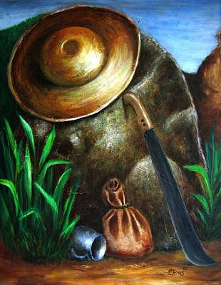 Jibaros Painting - Monumento Jibaro by Edgar Torres