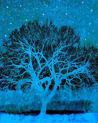 Montage Mixed Media - Mood Indigo by Ann Powell