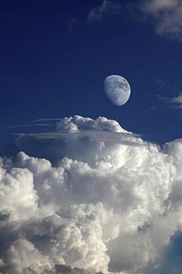 Astrophysics Photograph - Moon In Cloudy Sky by Detlev Van Ravenswaay