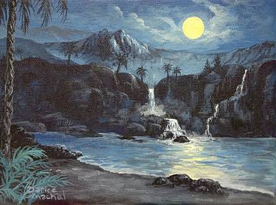 Painting - Moon Light Tropics by Darice Machel McGuire