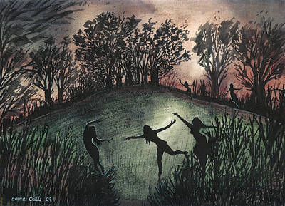 Sacrificial Painting - Moonlight Dance by Emma Childs