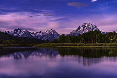 Teton Photograph - Moonlight Bend by Chad Dutson