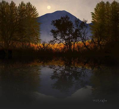Moonlit Mountain Meadow Art Print by Frank Wilson